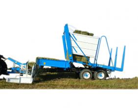 Straw bale picker and stacker